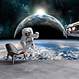 photo wall murals  Astronaut Space Wall Mural Planet Earth Photo Wallpaper Boys Bedroom Home Decor Available in 8 Sizes Gigantic Digital
