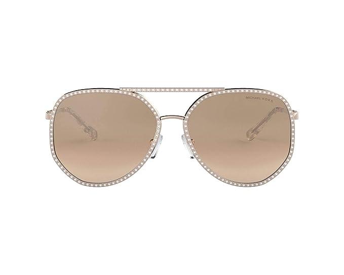 Michael Kors 0MK1039B Gafas de sol, Shiny Rose Gold, 58 para ...