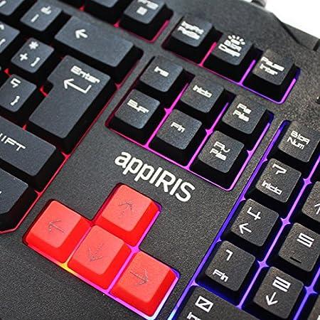 Approx Gaming APPIRIS - Teclado y ratón para Gaming, 7.7 x 12 x 4, 45.5 x 18 x 3.2, Negro y Rojo: Approx-Gaming: Amazon.es: Informática