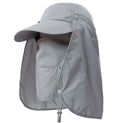 Amazon.com   LC-dolida Fishing Hat 360°UV Protection Sun Hat e9ee582b927