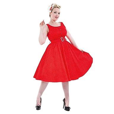698235a6b4c53 H&R Polka Dot Dress (Red/Black): Amazon.co.uk: Clothing