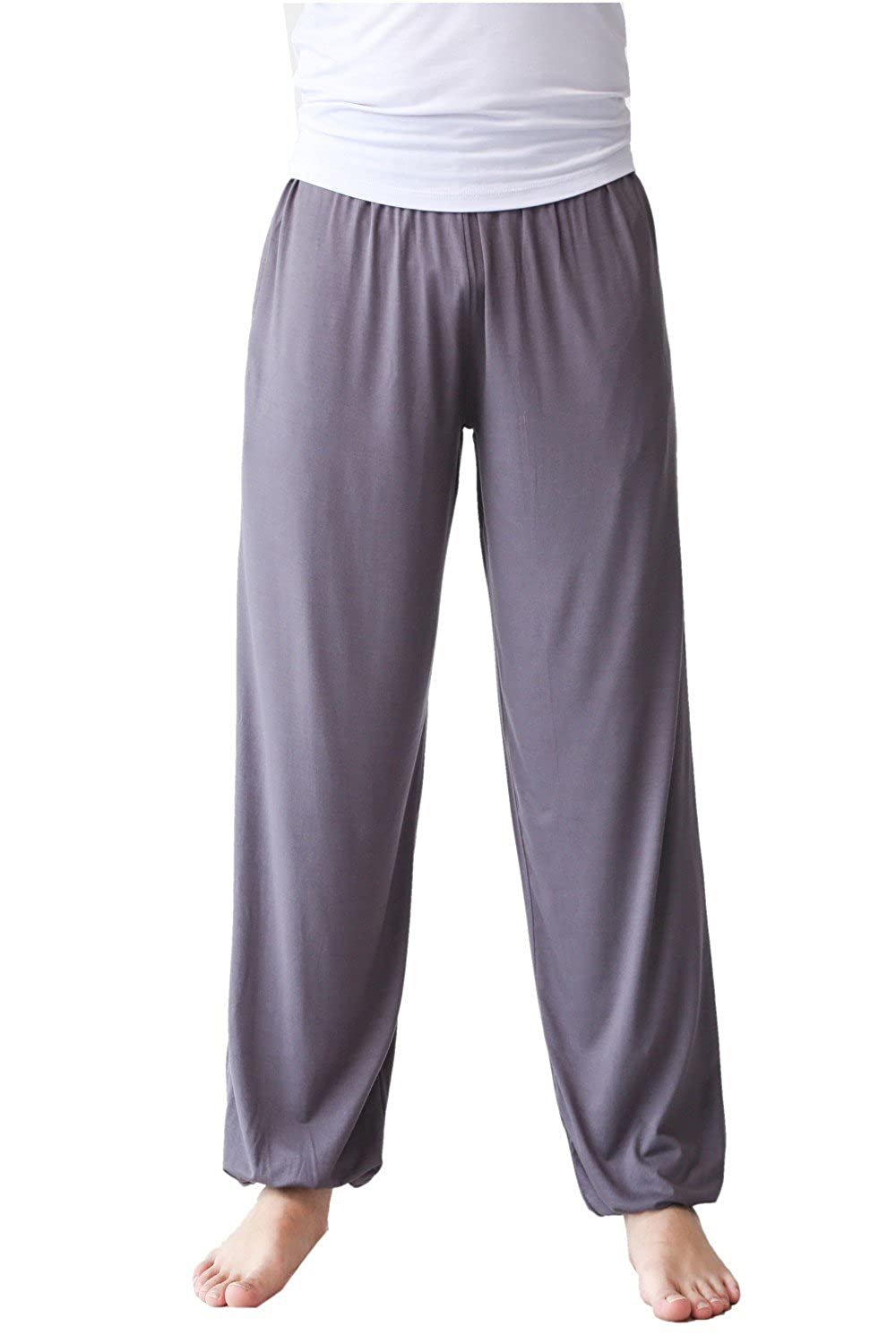 Guandoo Men's Loose Modal Yoga Pants Sports Dance Exercise Casual Trousers