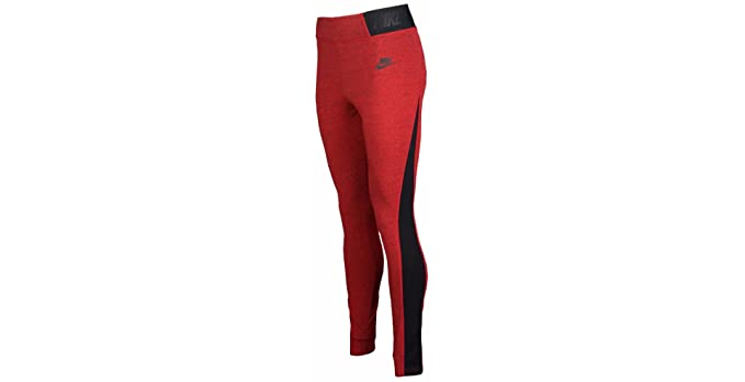 0854da10ef534 Nike Heathered T2 Women's Leggings (XS x 28.5, Light Crimson/Heather/Black