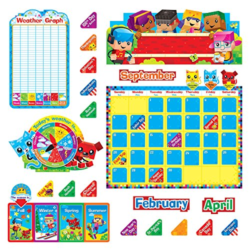 TREND enterprises, Inc. T-8381 BlockStars! Calendar Bulletin Board Set by Trend Enterprises Inc