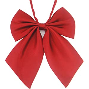 Ladies Adjustable Pre tied Bowtie - Solid Color Bow Ties for Women