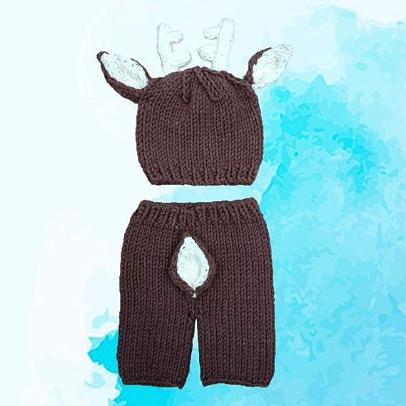 Ueetek Stricken Häkeln Baby Foto Prop Weihnachtsoutfits Für