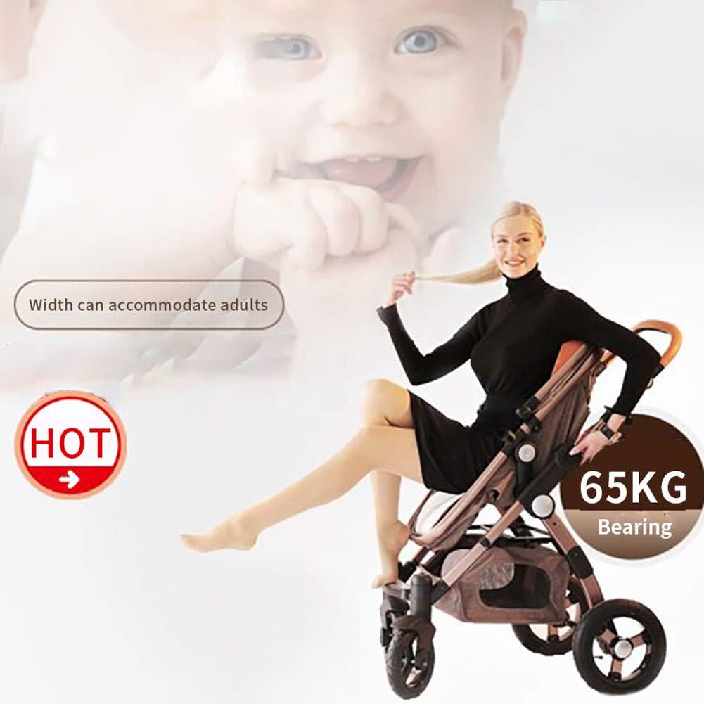 {Type=String, Value=Khaki 3 in 1} Luxury Baby Stroller 3 in 1 Foldable Pushchair High Landscape Pram Infant Bassinet Car Seat Babies Sleeping Basket