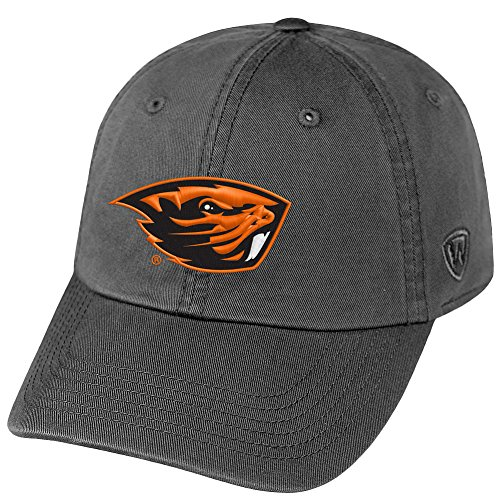 (Top of the World NCAA Oregon State Beavers Men's Adjustable Relaxed Fit Charcoal Icon Hat,)