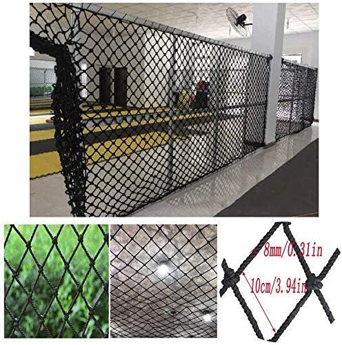 Seguridad y comodidad Protección Escaleras Ventana red de seguridad de los niños ZHUYUE neto Balcón resistente a los golpes Kinder neto arrastre de la Red valla Decoración neto Negro Cuerda engrosamie: Amazon.es: