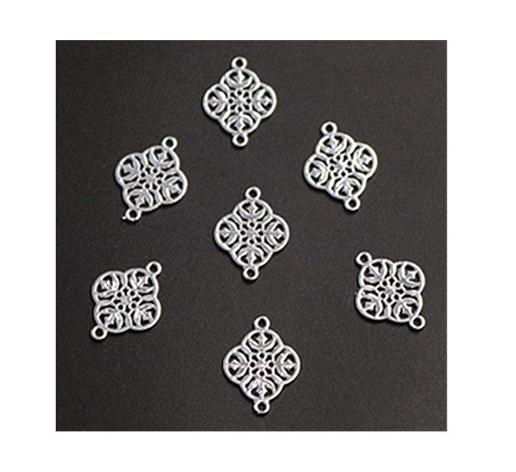 8pcs Antique Silver UC Plating Four Leaf Petals Glamour retro Bracelet Earrings DIY Metal Jewelry Alloy Connectors A1318