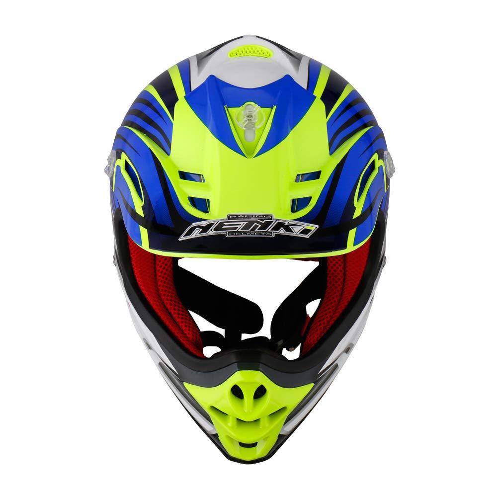 XXS 51-52CM,Black Green NENKI NK-303 Kids Quad Helmet,Motocross ATV Dirtbike Offroad Go Karting Motorbike Helmet,ECE Approval