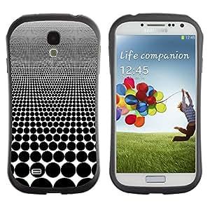 "Hypernova Slim Fit Dual Barniz Protector Caso Case Funda Para SAMSUNG Galaxy S4 IV / i9500 / i9515 / i9505G / SGH-i337 [Modelo de lunar Ilusión Blanco Negro""]"