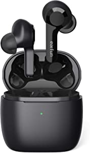 Wireless Earbuds, EarFun Air 4 Mics Bluetooth 5.0 Earbuds Touch Control, USB-C Quick Charge with Wireless Charging, Deep Bass, in-Ear Detection Headphones, 35H Playtime, IPX7 Waterproof