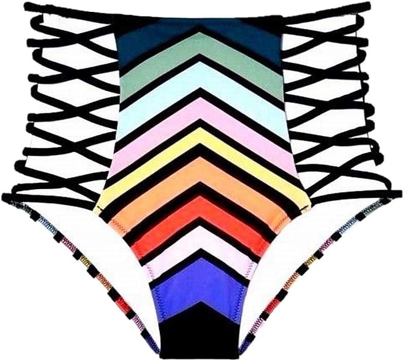 d2960b5bf7d14 Amazon.com: Victoria's Secret Bikini Bottom High Waist Black Swim ...