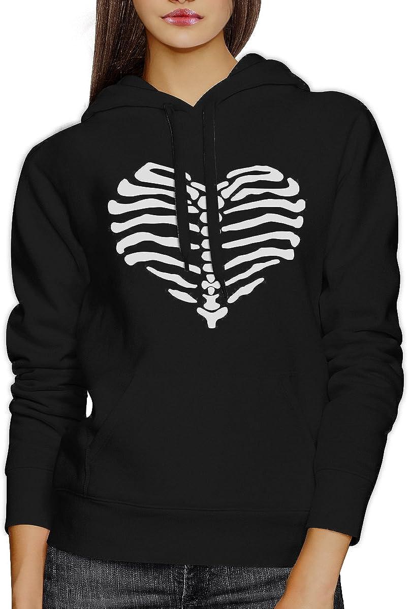 365 Printing Skeleton Heart Unisex Graphic Hoodie Pullover Fleece for Halloween