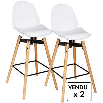 Bar Coloris Blanc 2 De Chaises Scandinave Style Lot Atmosphera 7YmbvIfy6g