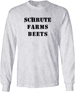 fcb3191d8d7 Amazon.com  The Office Schrute Farms Beets Heather Gray Adult Long ...