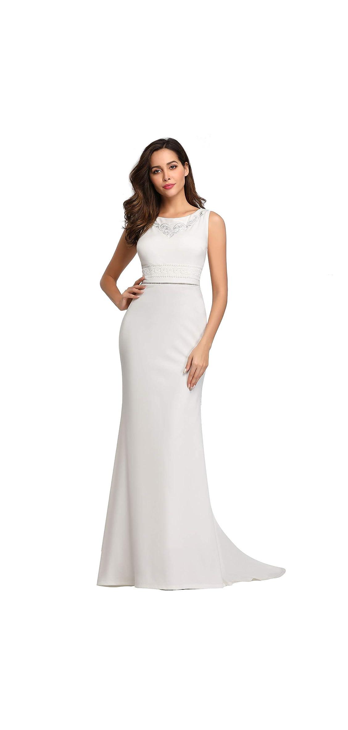 Women's Sleeveless Bodycon Mermaid Dress Floor Dress