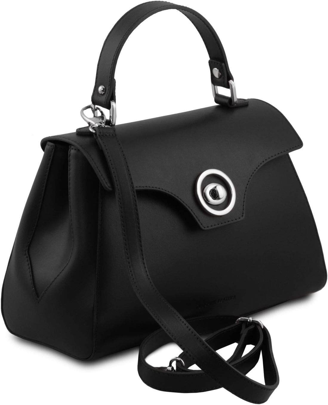 Tuscany Leather TLBag Bauletto in pelle Cognac Nero