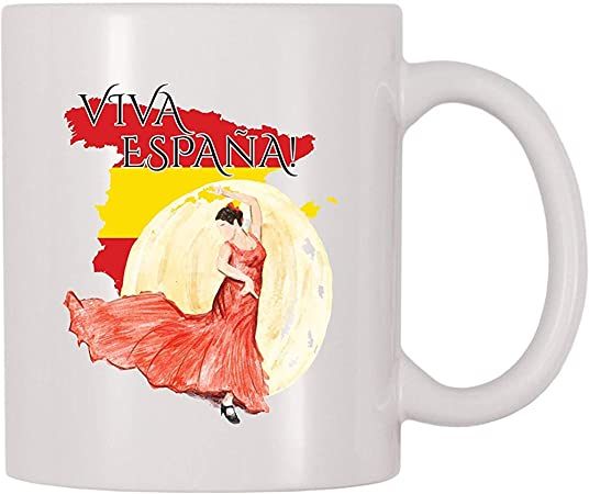 Viva España España Taza de café Taza de té Tazas divertidas: Amazon.es: Hogar
