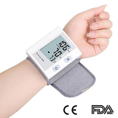 Digital muñeca de esfigmomanómetro EW-1510 de presión arterial y pulso AM pulsera alta precisión