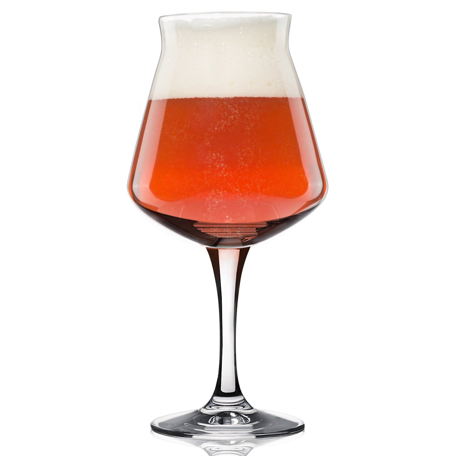 Nucleated Teku 3.0 Beer Glass by Rastal -Nucleation Pint Glasses for Better Head Retention, Aroma and Flavor - 14.2 oz Craft Beer Glass for Enhanced Beer Drinking Bliss - Gift Idea for Men