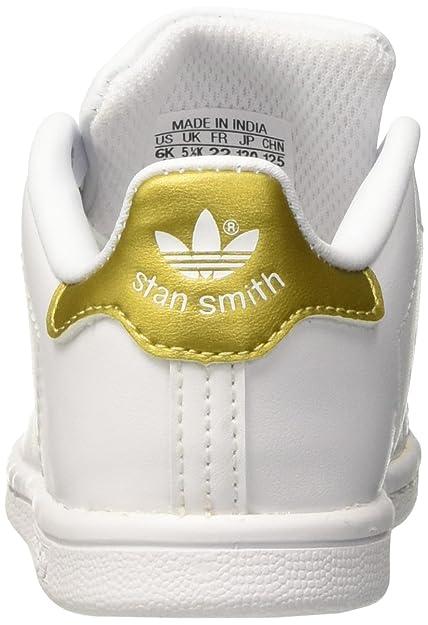 timeless design 8849c c535b adidas Stan Smith, Ballerine Unisex - Bimbi 0-24, Bianco (Ftwr White Gold  Metallic), 27 EU  Amazon.it  Scarpe e borse