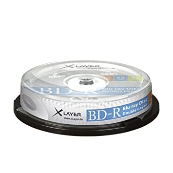 Xlayer BD-R DL Blu-Ray Disc Double-Layer 50GB 4x: Amazon.de ...