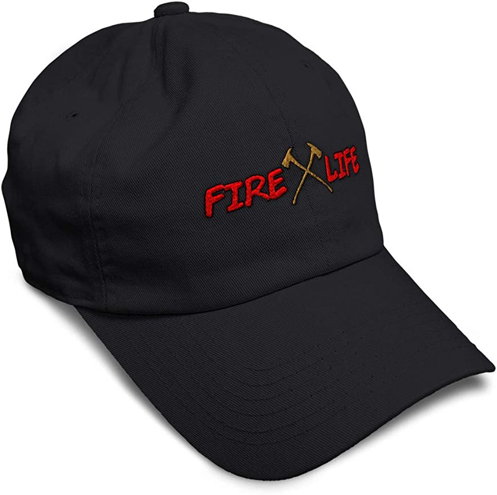 Custom Soft Baseball Cap Fire Life Embroidery Dad Hats for Men /& Women