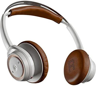 Amazon Com Plantronics Backbeat Sense Wireless Headphones With Mic White Tan Electronics