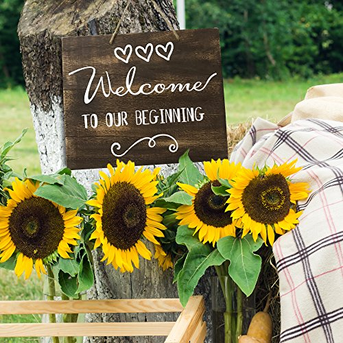 Welcome To Our Wedding Sign//Plaque Wooden Rustic Barn Shabby Chic Vintage