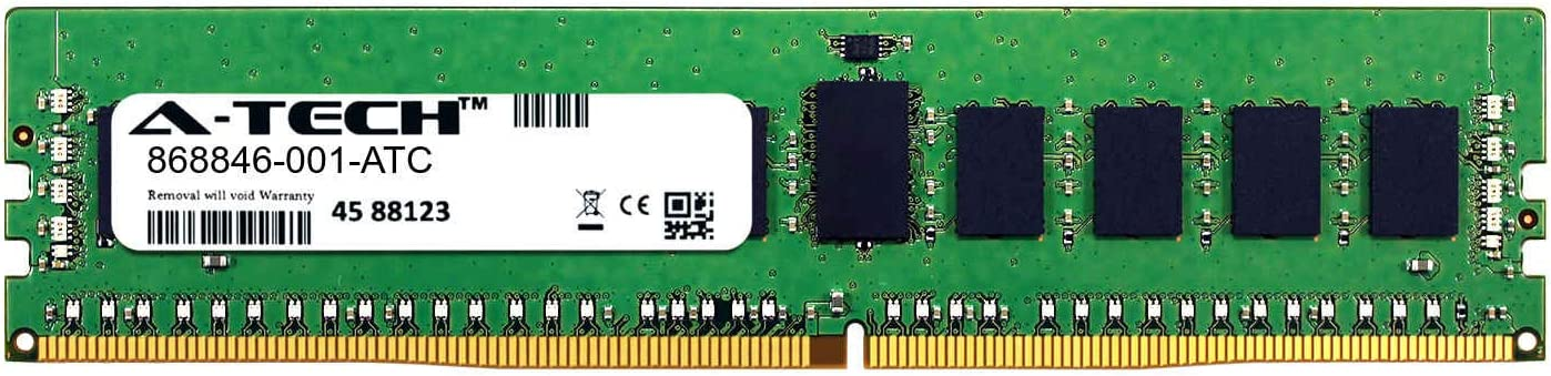 868846-001-ATC Single Server Memory Ram Stick A-Tech 16GB Replacement for HP 868846-001 DDR4 2666MHz PC4-21300 ECC Registered RDIMM 2rx8 1.2v