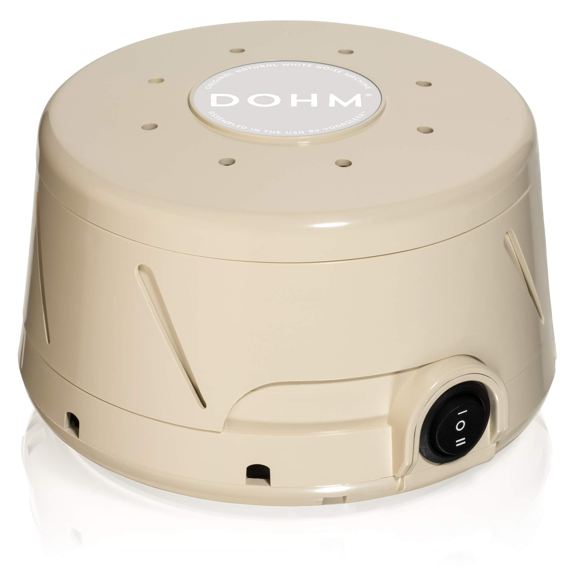 Yogasleep Dohm Classic (Tan) The Original White Noise Machine | Soothing Natural Sound from a Real Fan | Noise Cancelling | Sleep Therapy, Office Privacy, Travel | For Adults, Baby | 101 Night Trial