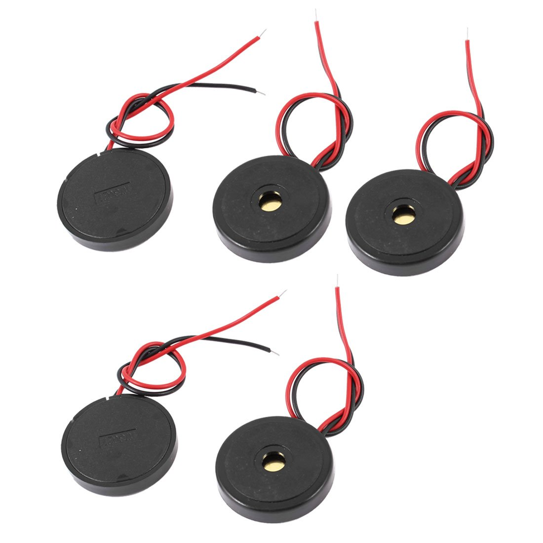 Sourcingmap a14062400ux0173 5 Stü ck DC 1– 30V 90 DB SOUND passiver elektronischer Summer Alarm Schwarz 30 x 6 mm –  (1Stü ck)
