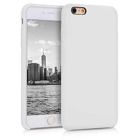 kwmobile Funda para Apple iPhone 6 Plus / 6S Plus - Carcasa de [TPU] para teléfono móvil - Cover [Trasero] en [Blanco]