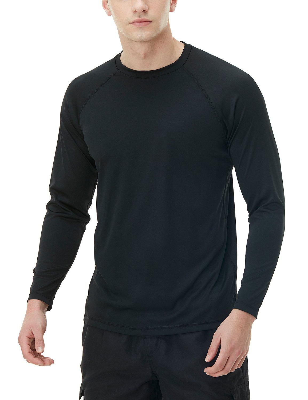 TSLA Men's UPF 50+ Long Sleeve Rashguard MSR Series