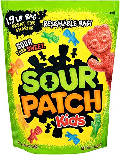 Sour Patch Kids Candy, 1.9 Pound Bag (Pack of 2) (Patch Individually Wrapped Kids Sour)
