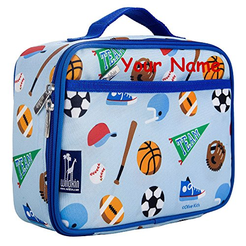 (Personalized Wildkin Game On Sports Lunch Box)