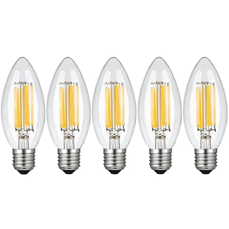 Boshen Chandelier LED Light Bulbs, E12 E26 Base C35 LED Filament, 20 ...