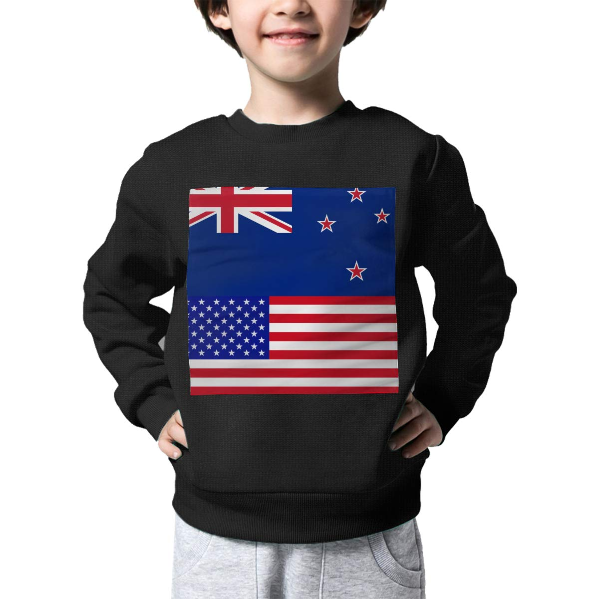 NJKM5MJ Boys Girls New Zealand-American Proud Lovely Sweaters Soft Warm Childrens Sweater