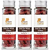 3-PACK: PREMIUM African Birds Eye Chillies - Healthy, Non-GMO, Whole Chili Peppers - Extra Hot, Very Spicy - BEST SELLER