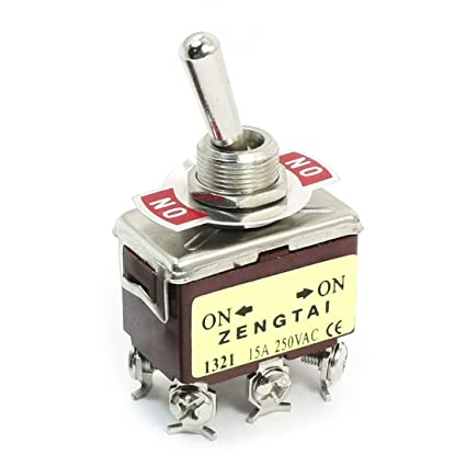 5 Pcs 2-position On-on Dpdt Self-locking Toggle Switch Ac 250v 15a 1321 Home Appliance Parts