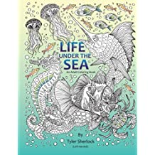 Life Under the Sea: Left-handed Coloring Book