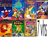 walt disney's 7pack: Beauty and the Beast (Disney), Pinocchio, The Jungle Book , The Lion King II: Simba's Pride, Bambi (55th Anniversary Limited Edition, The Great Mouse Detective , Fantasia (1942)