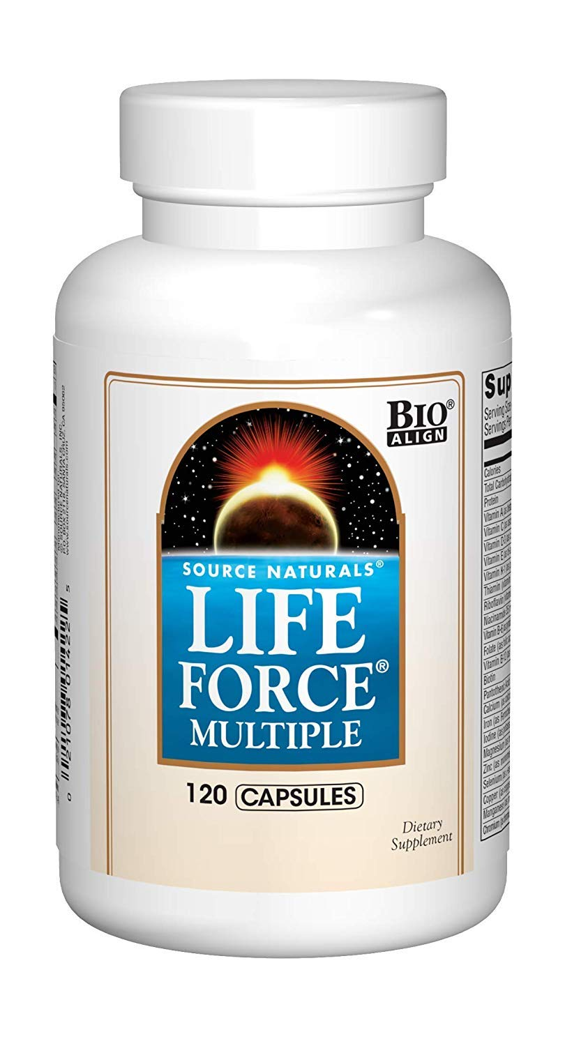 Source Naturals Life Force Multiple Daily Multivitamin High Potency Essential Vitamins, Minerals, Antioxidants Nutrients – Energy Immune Boost – 120 Capsules