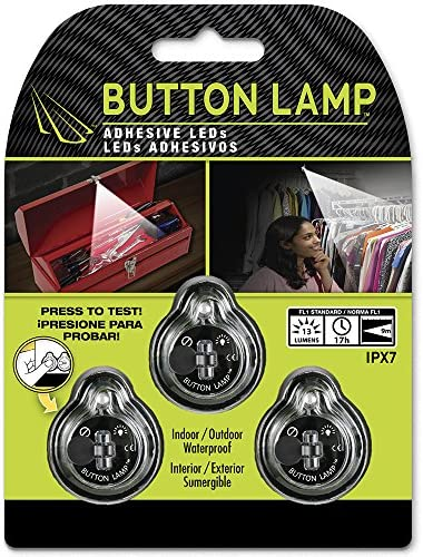 Button Lamp Adhesive Leds Light Package Lightweight Ultra Small Ultra Bright Led Utility Lights 3 Pack Bl 5475 Amazon Com