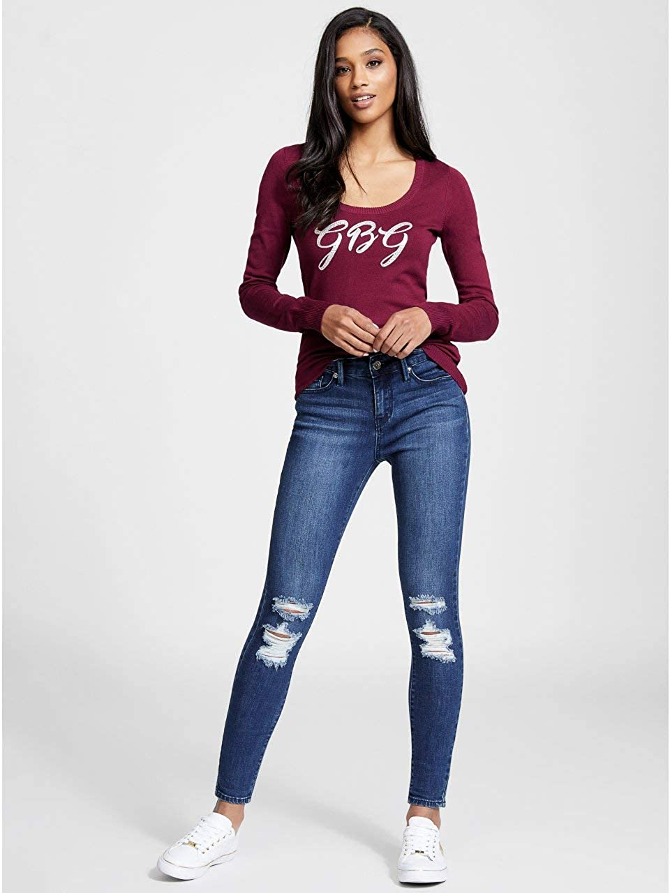 G By Guess Kellie Scoop-Neck Sweater GByGUESS