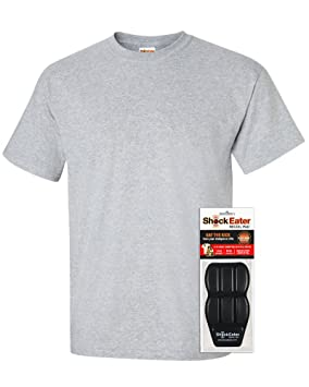 cd92479281d29 ShockEater Men's Recoil Shooting Shirt with Recoil Pad, Sport Grey, Large,  Left Handed
