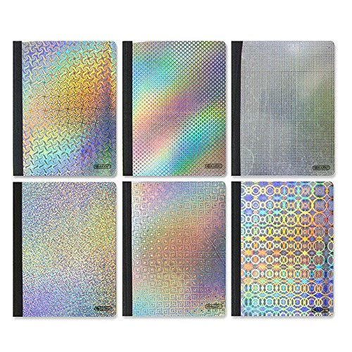 4 Pk, Bazic 100 Ct. Holographic Composition Book
