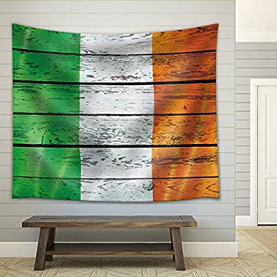 Irish Flag on a Wooden Background, Quality Artwork, Incredible Style